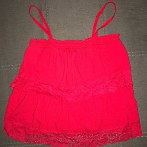 Red Lace Hollister Top